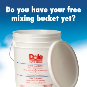 DOLE Soft Serve Mixing/Storage Bucket