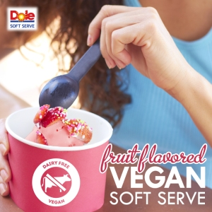 Just add water to DOLE Soft Serve dry mix